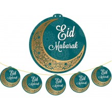 Hanging Display - 5pc LARGE Eid Mub Blue