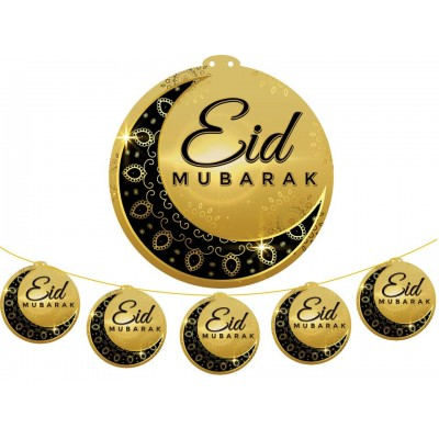 Hanging Display - 5pc LARGE Eid Mub Blk Cres
