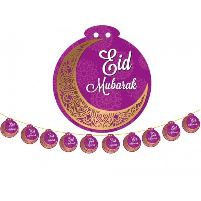 Hanging Display - 10pc MEDIUM Eid Mub Purple