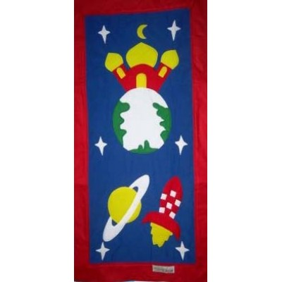 Hand Made Children's Prayer Mat - Boys - Spaceship