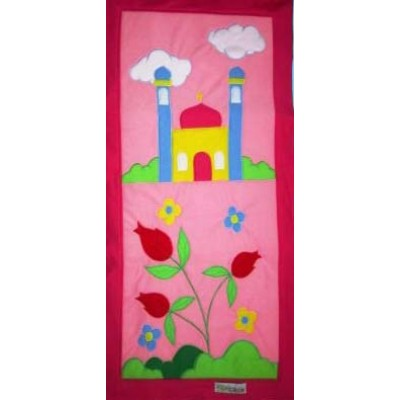 Hand Made Children's Prayer Mat - Girls - Pink