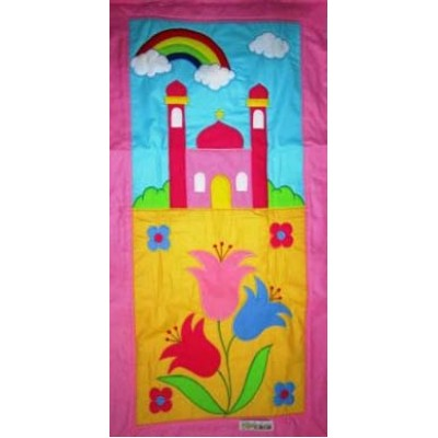 Hand Made Children's Prayer Mat - Girls - Yellow