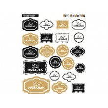 Designer Eid Mubarak Sticker Sheets