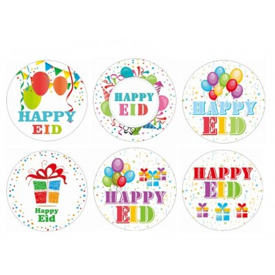 Badges - Happy Eid - Pack of 6