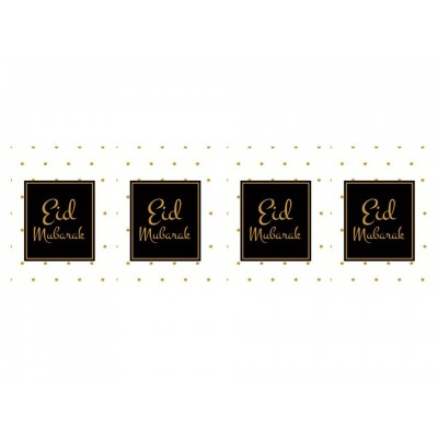 Cards - Eid Mubarak (4Pk) Black Square