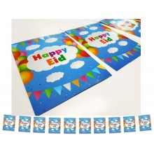 Flags - Happy Eid - (Pk of 10) - Clouds
