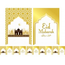 Designer Eid Flags - White & Gold