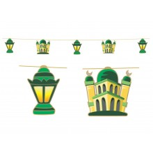 Hanging Display - Lanterns (Green & Gold)