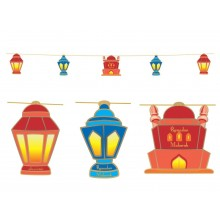 Hanging Display - Lanterns (Red & Blue)