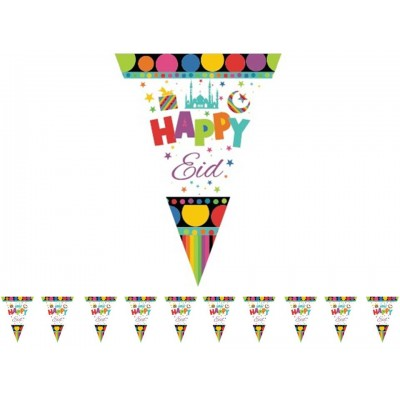 Flags - Happy Eid Triangle with Dots (10 Pack)