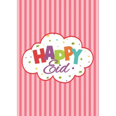 Mini Happy Eid Card - Pink