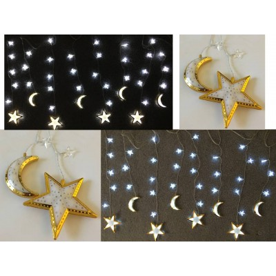 Lights - 32 Small Plus 8 Gold Moon & Stars