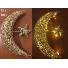 Lights - Ramadan Mesh Moon & Star - Gold