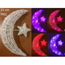 Lights - Ramadan Mesh Moon & Star - White