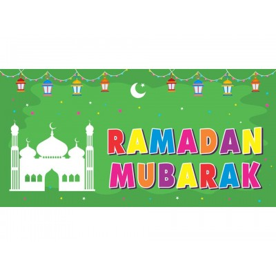 XL CLOTH BANNER  - Ramadan Mubarak - Green